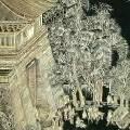 Китайская художница составила 12-метровую картину из шелухи семечек